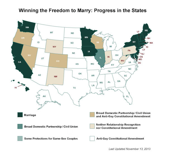 Gay Marriage United States Map.What States Allow Gay Marriage Infographic Map 2013 G Philly