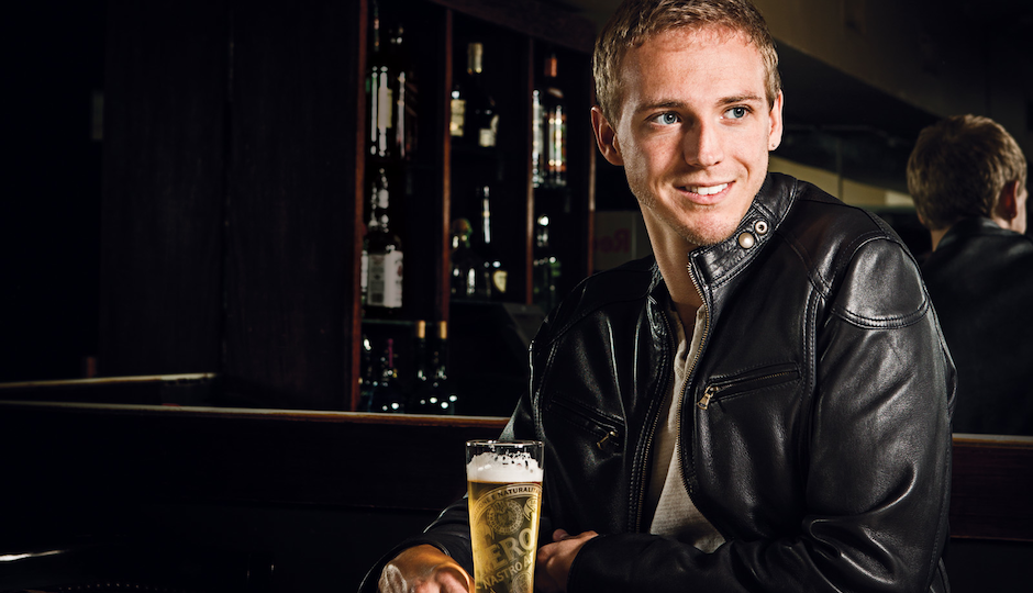 Josh having a beer at Tavern on Camac. Photo courtesy of Jared Castaldi.