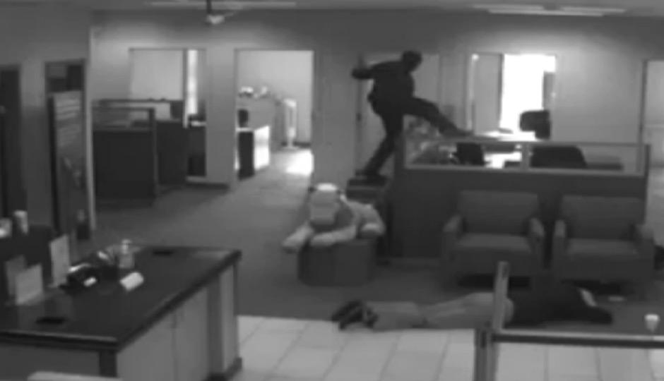 robbers terrorize Main Line bank.
