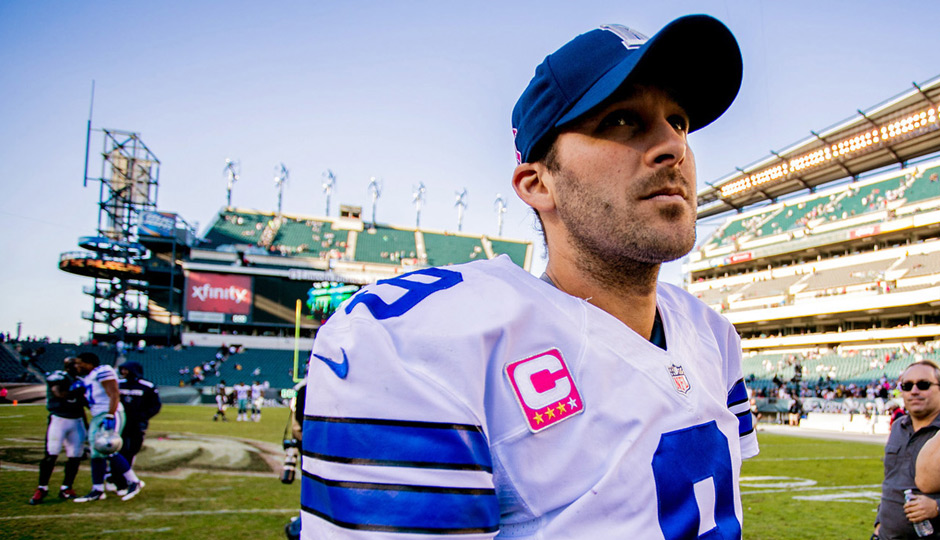 Tony Romo is out against the Eagles