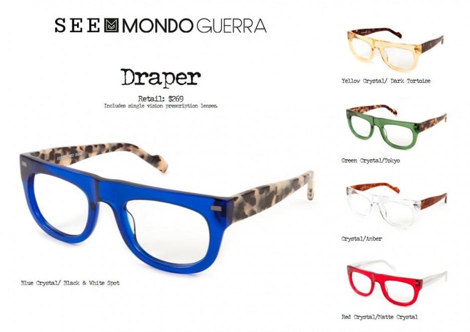 mondo guerra debuts eyewear line at see g philly