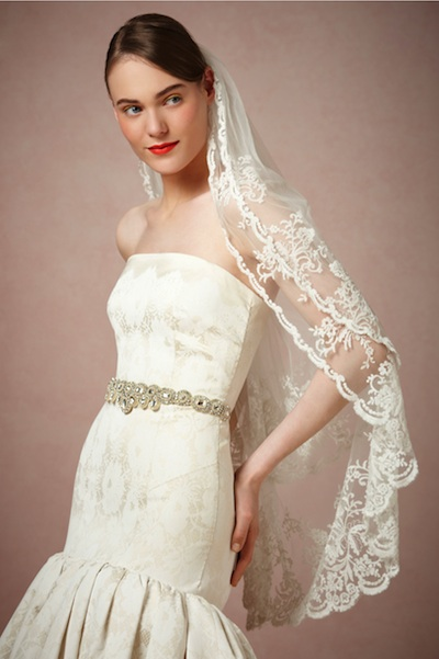 The Luella veil from BHLDN, currently $260 at BHLDN.com.