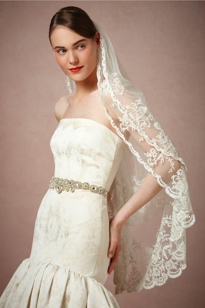 The Luella veil from BHLDN, currently $260 at BHLDN.com.