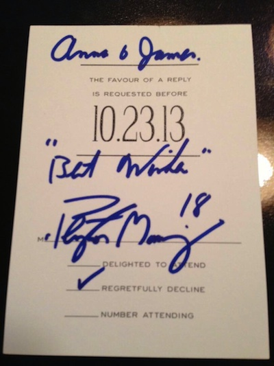 Peyton Manning S Lovely Response To A Fan Wedding Invitation Photo Via Reddit