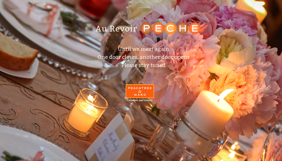 The current landing page at peche-peachtree.com.