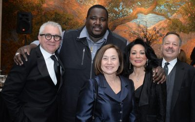 From left: Chef Michele Pastorello, Quinton Aaron, actor from The Blind Side, Sara Manzano-Díaz, director of the U.S. Department of Labor's Women's Bureau, Gloria Bonilla-Santiago, LEAP founder and board chair, and the honorable Nelson Diaz.