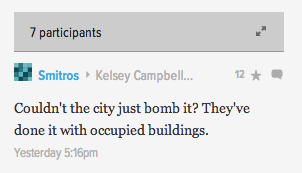 A Gizmodo commenter gets fresh.