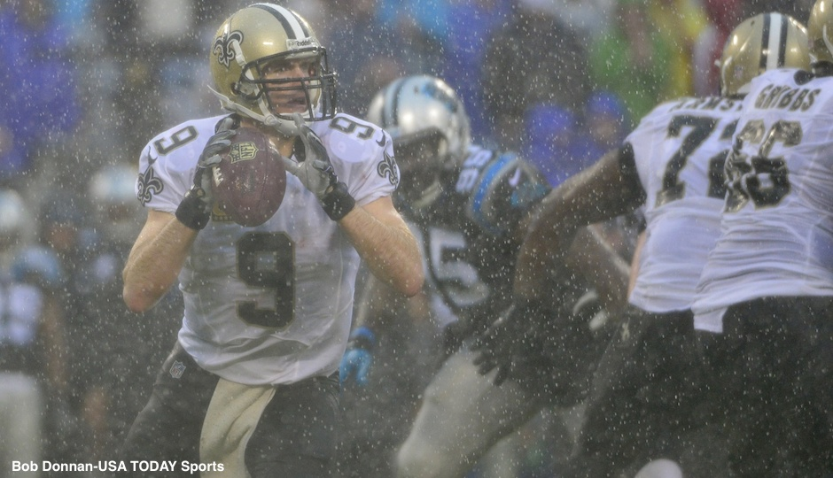 Drew Brees Barefoot Usatsi Drew Brees Bob Donnan
