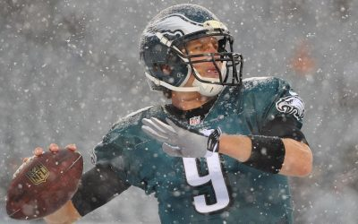 Dec 8, 2013; Philadelphia, PA, USA; Philadelphia Eagles quarterback Nick Foles (9) warming up prior to the game against the Detroit Lions at Lincoln Financial Field. Photo | : Jeffrey G. Pittenger-USA TODAY Sports