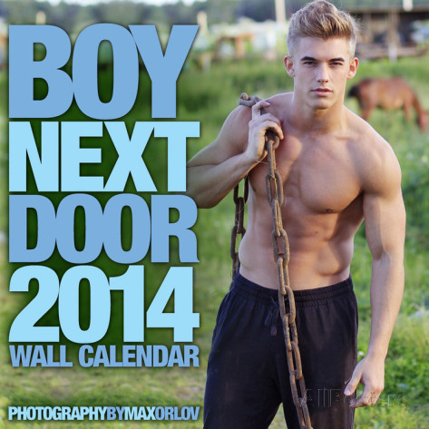 boy next door 2014 calendar