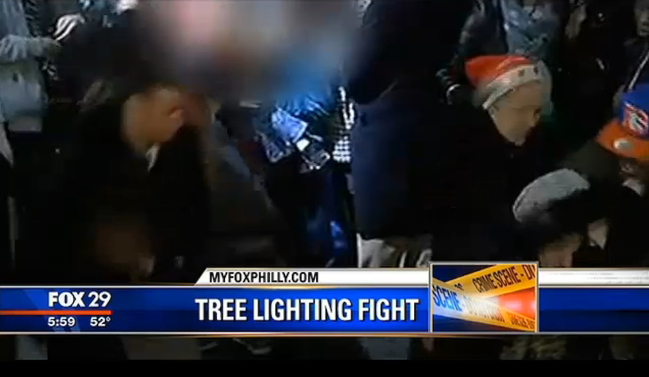 Video: Fight at Christmas Tree Lighting Ceremony at City Hall ...