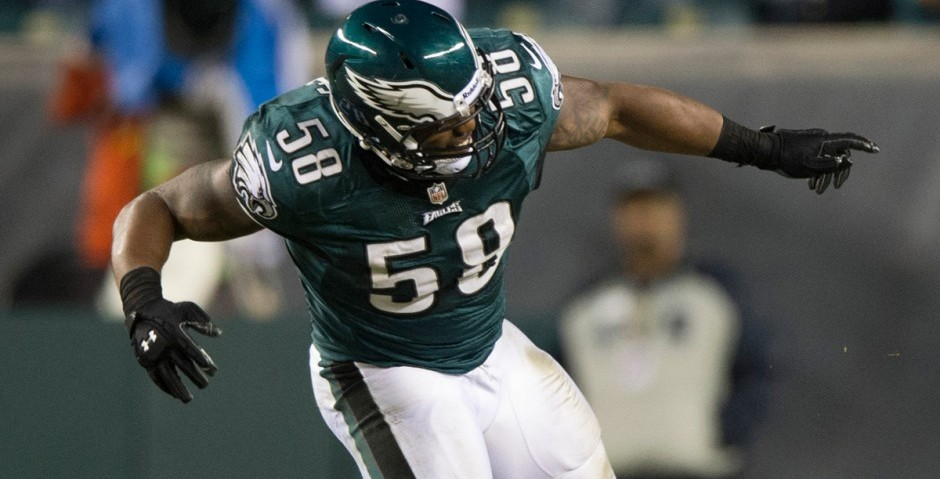 Trent Cole had one sack in the Eagles' first 10 games. He has seven in the last five, including three against the Bears.