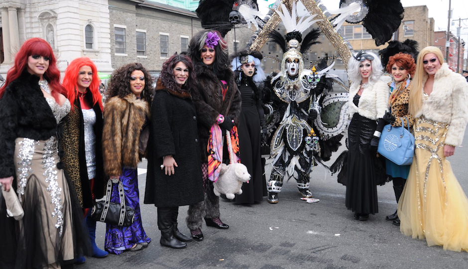 drag mummers day parade