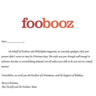 Foobooz Has Got Your Back During The Holidays Check Out The