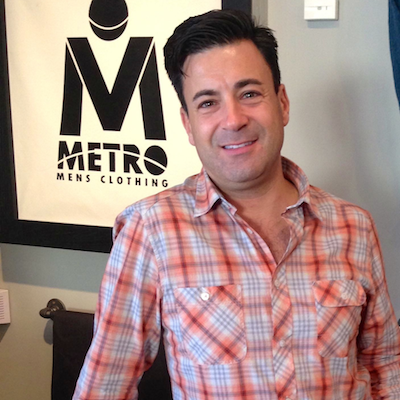 Metro Men's Clothing owner Tom Longo Jr. will be serving up complimentary cocktails during Saturday's Second Saturday soiree on East Passyunk Ave.