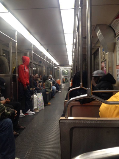 A train full of thugs? I don't think so. Photo | Sandy Smith