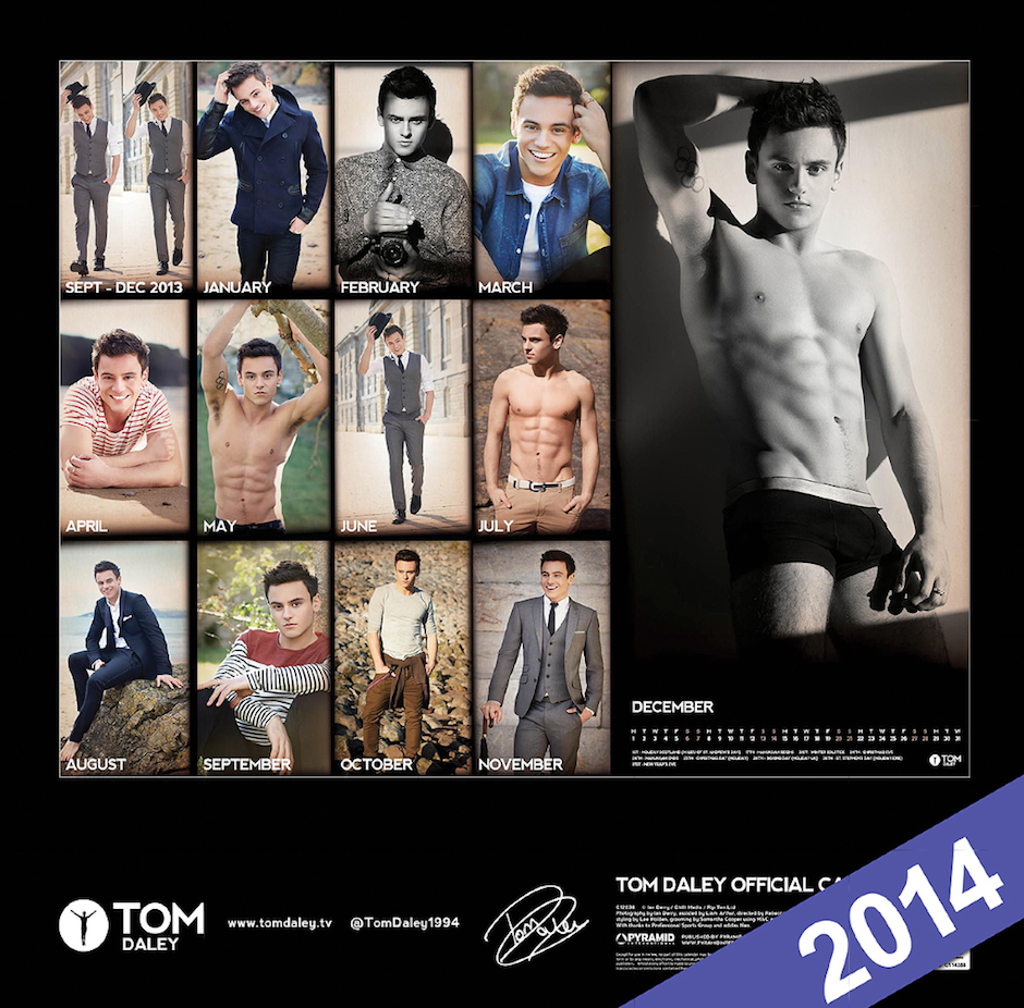 tom daley calendar 2014