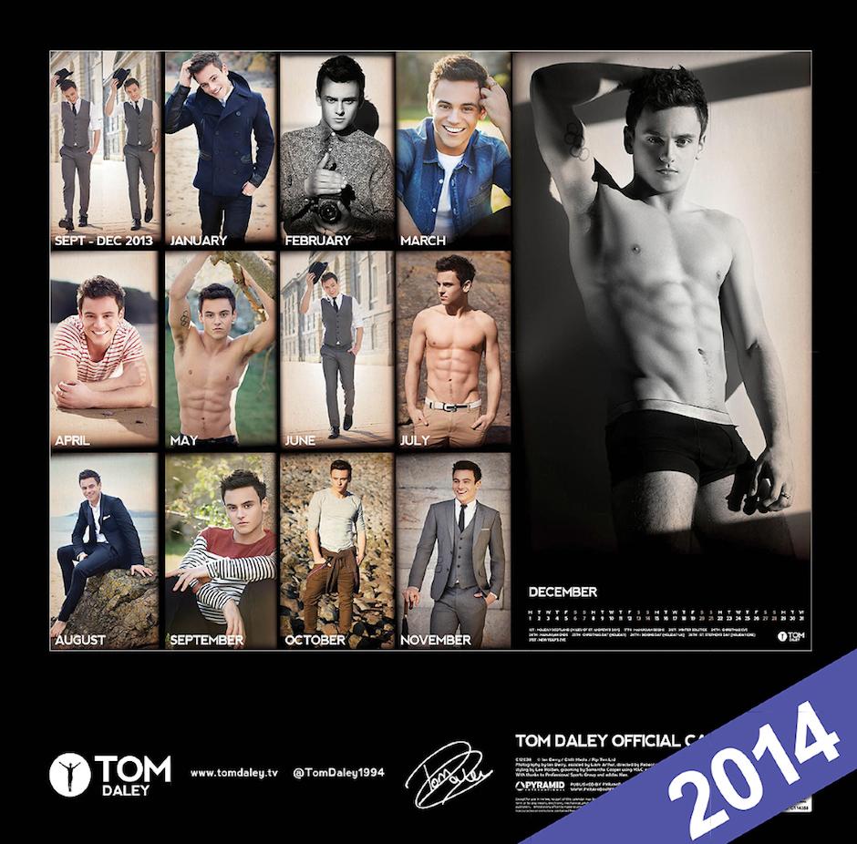 tom daley calendar 2014
