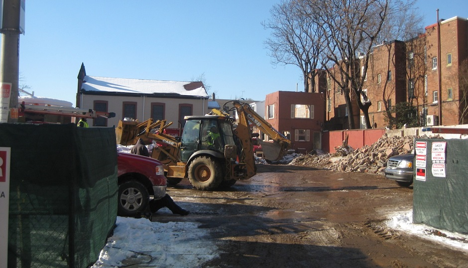 Demolition site at 19th and Lombard. Photo credit: Naked Philly.