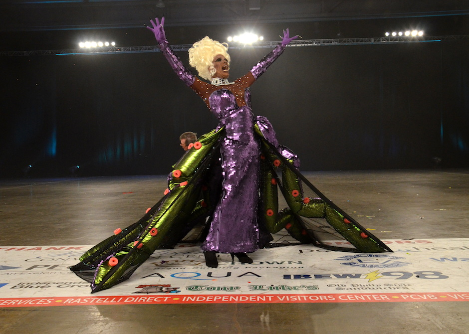 Drag diva Morgan Wells wins the title of Miss Fancy Brigade 2014. Photo courtesy of Patrick  Hagerty,