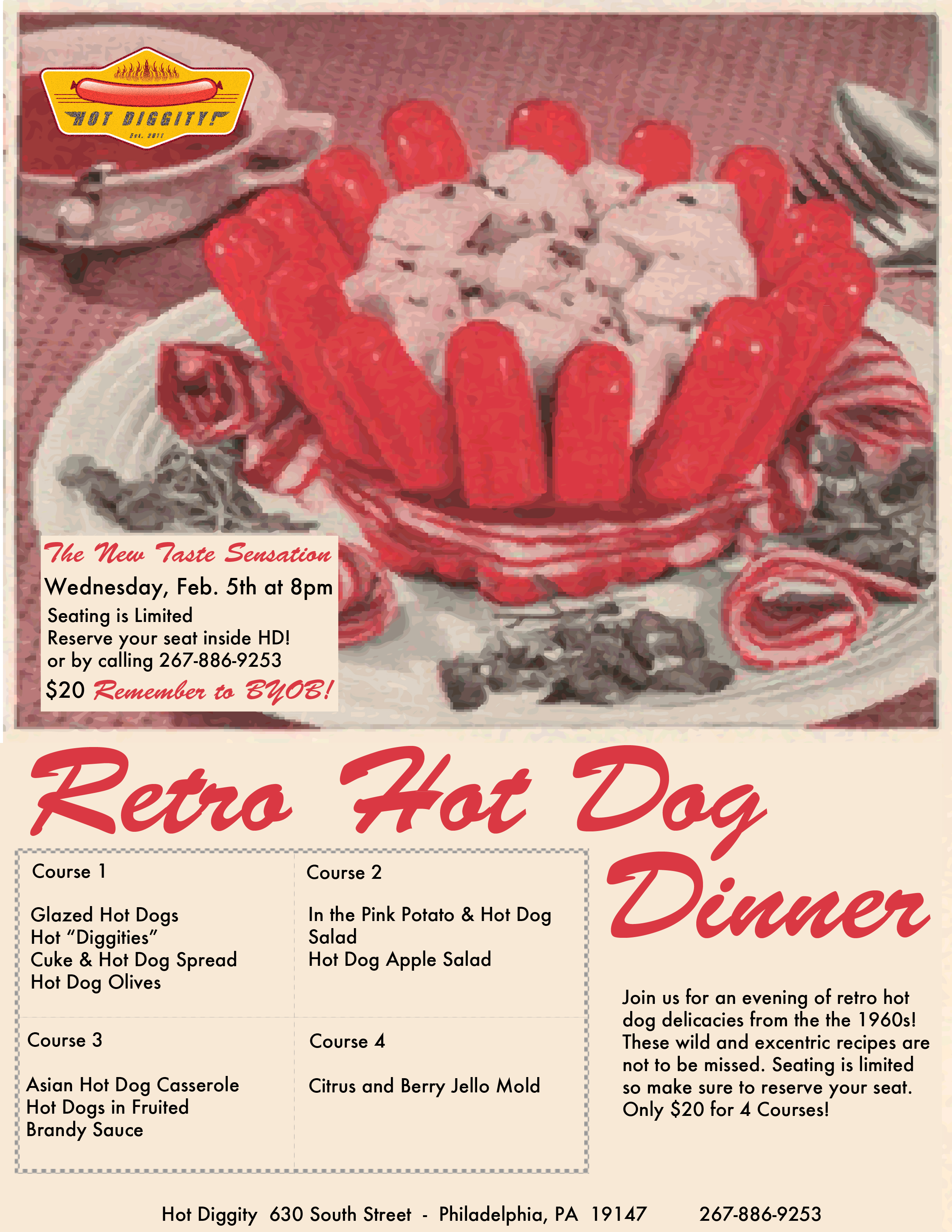 Hot Diggity Retro Dinner Post