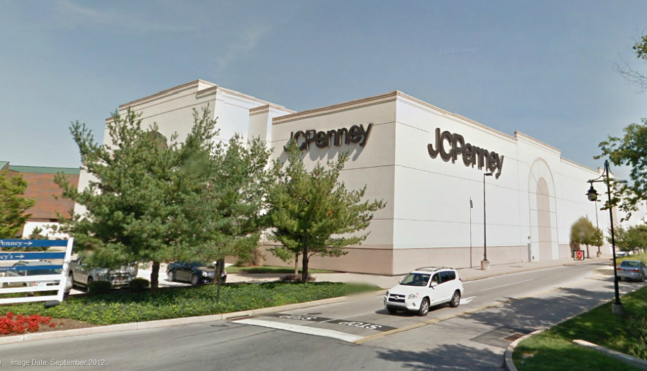 Screen shot of JCPenney at Exton Square Mall via Google Street View