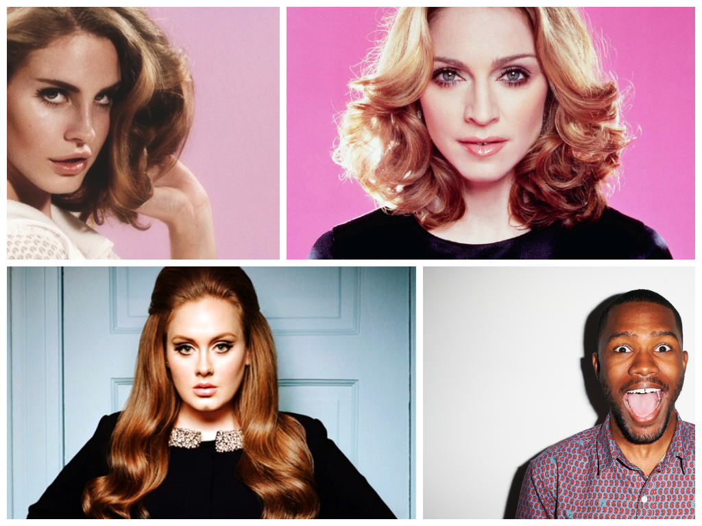 Lana Del Rey, Madonna, Adele and Frank Ocean are all set to release new albums in 2014.