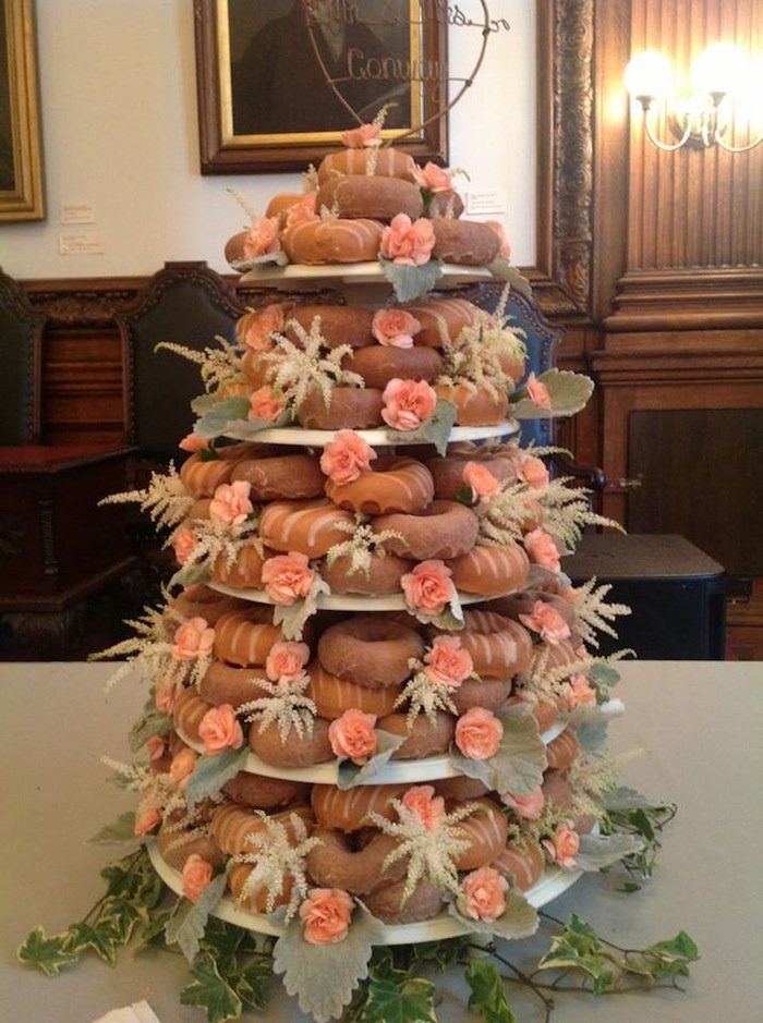 It's a Federal Donuts wedding cake!