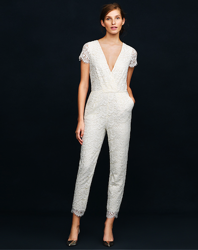 71d368a9b72 J.Crew Has a Bridal Jumpsuit In Its Spring Summer 2014 Wedding ...