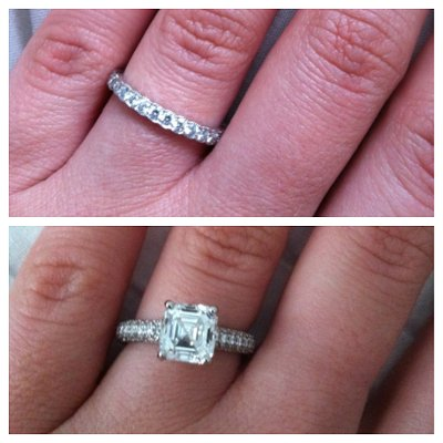 Gillian's rings! Wondering why there are two? Read her proposal story below ...