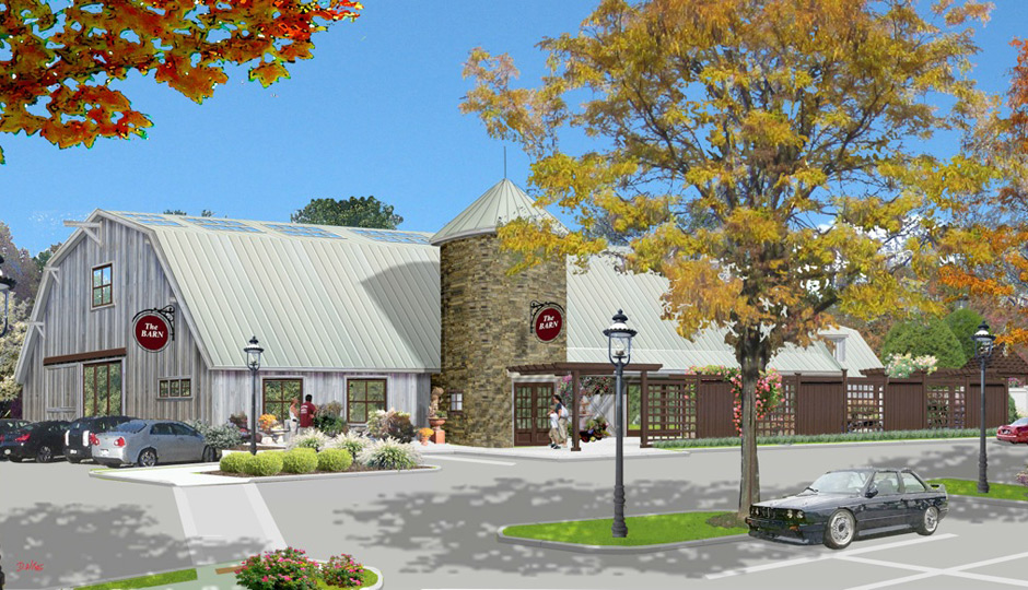 A rendering of the plans for The Barn.