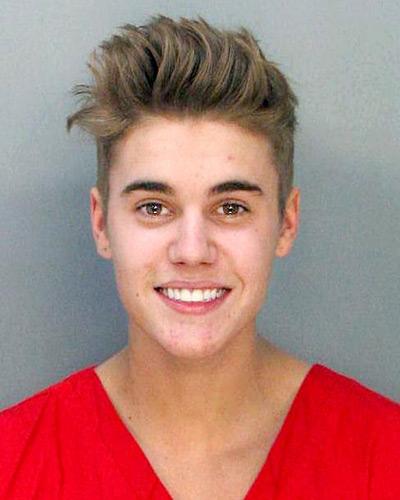 Bieber's mugshot