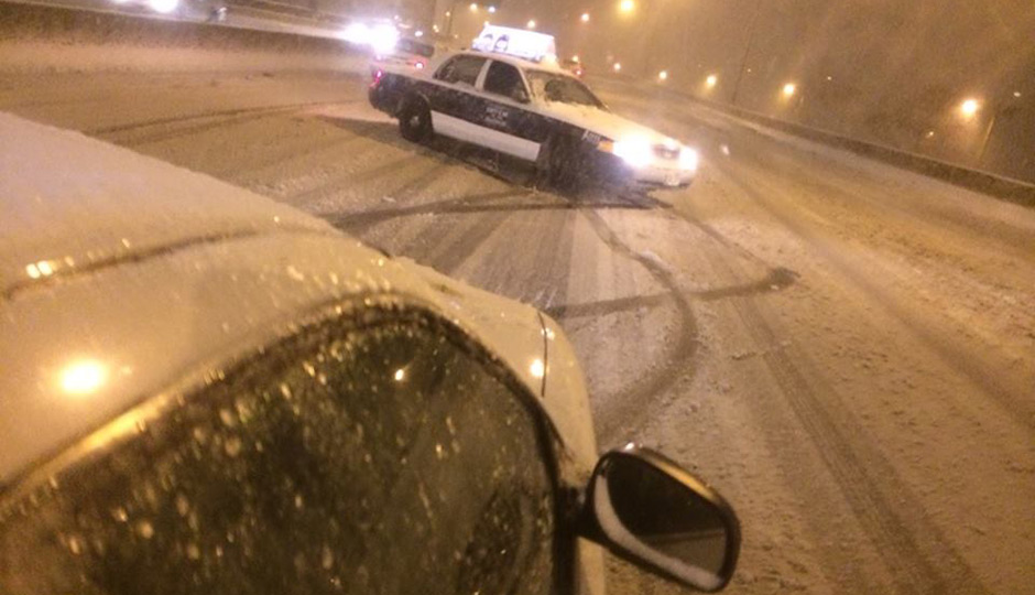 Cab slides on 76 West