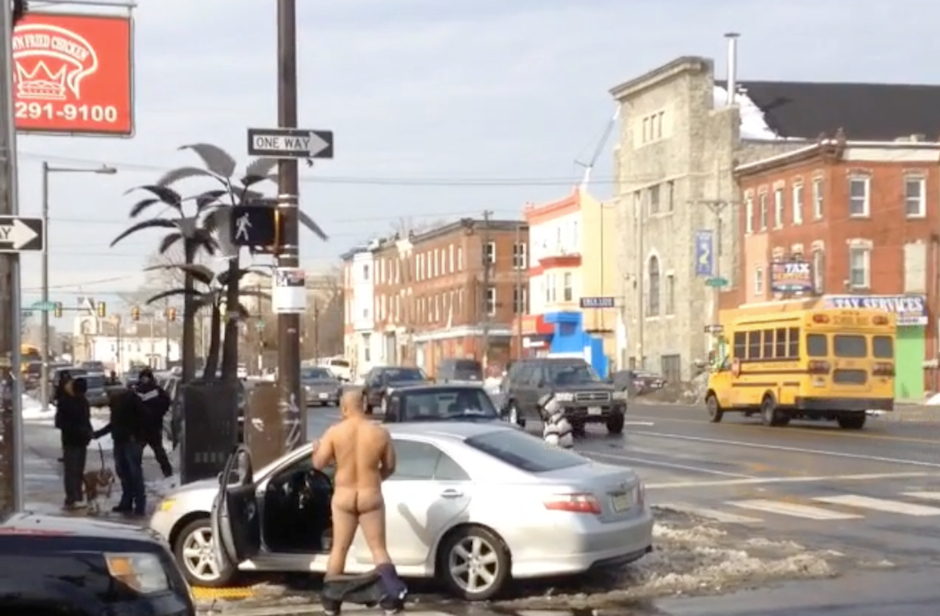 Video: After Crashing Into Crown Fried Chicken, Man Strips ...