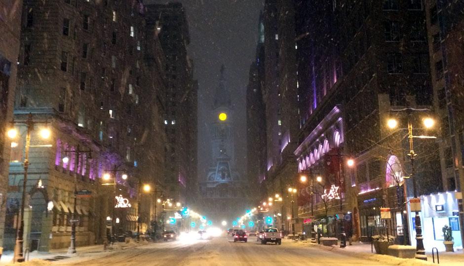 City Hall snowfall