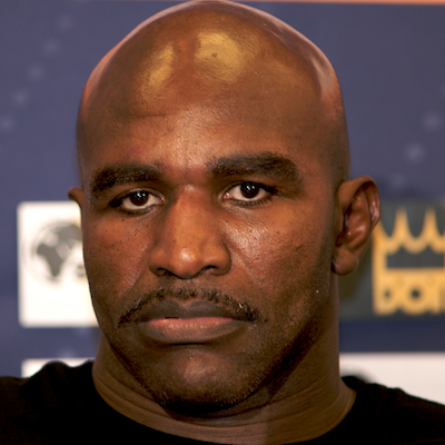 """Evander Holyfield calls being gay a handicap, says """"it ain't normal."""" Click the photo for more."""