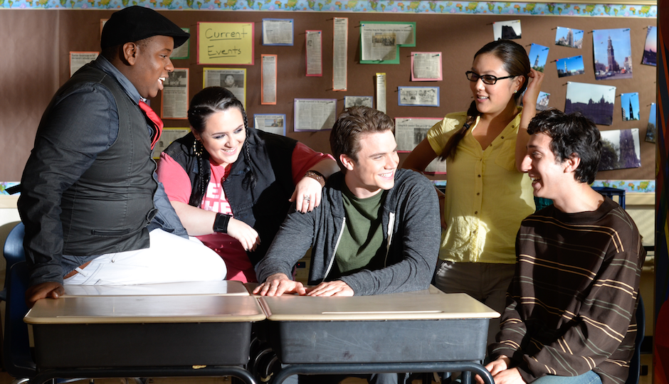 "The cast of ""Geography Club,"" one of the films with Philly ties up for a GLAAD Media Award."