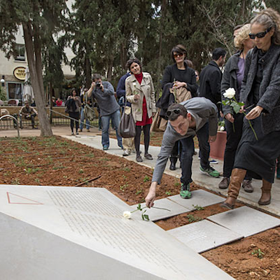 Israel's first memorial to LGBT victims of the Holocaust was unveiled this weekend in Tel Aviv.