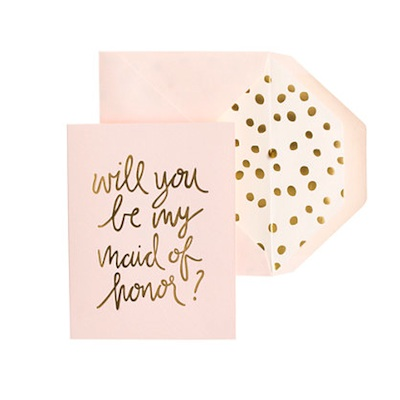 An adorable piece from J.Crew's new exclusive line of wedding stationery designed with Sugar Paper.