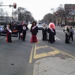 Miss Fancy Brigade pauses near Broad and Washington. Photo courtesy of Wang Newton.