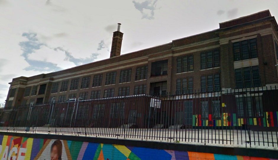 The shuttered Anna Shaw Middle School via Google Street View.