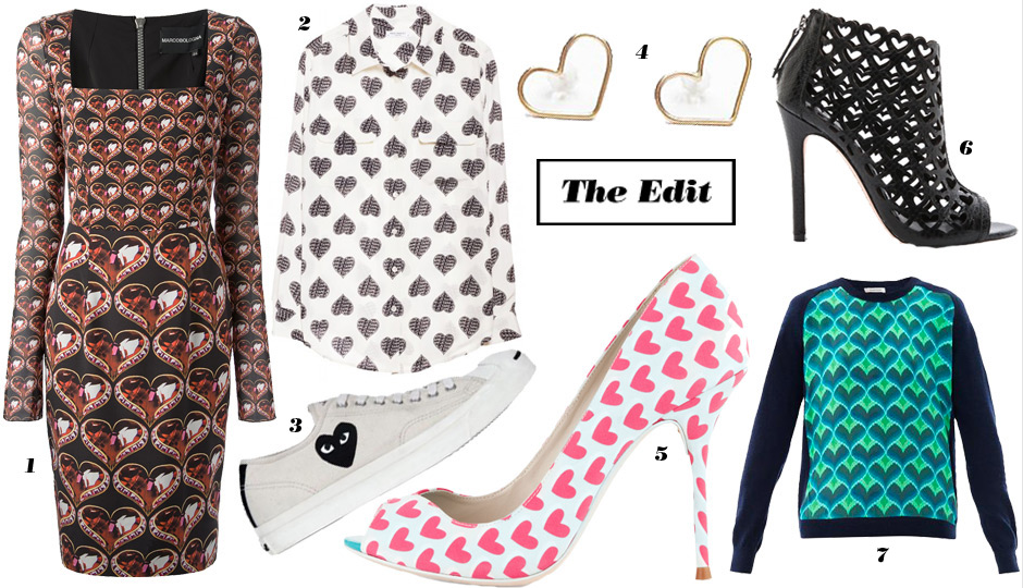 7 Ways To Wear Non-Cheesy Heart Prints