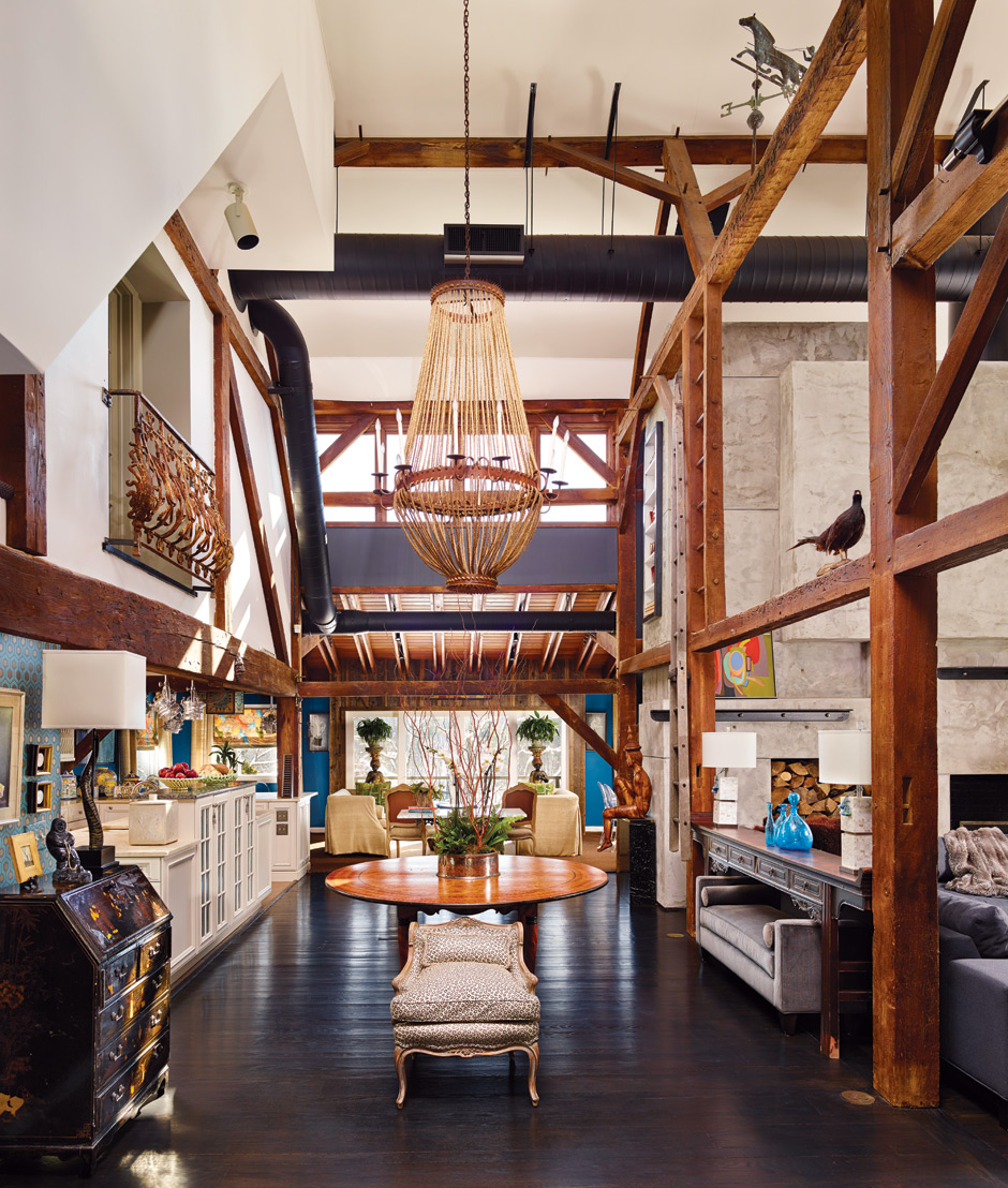 Rafael Novoa And Robert Lieberman Of Rafael Novoa Interior Design Converted  Their Upper Makefield Barn Into Design