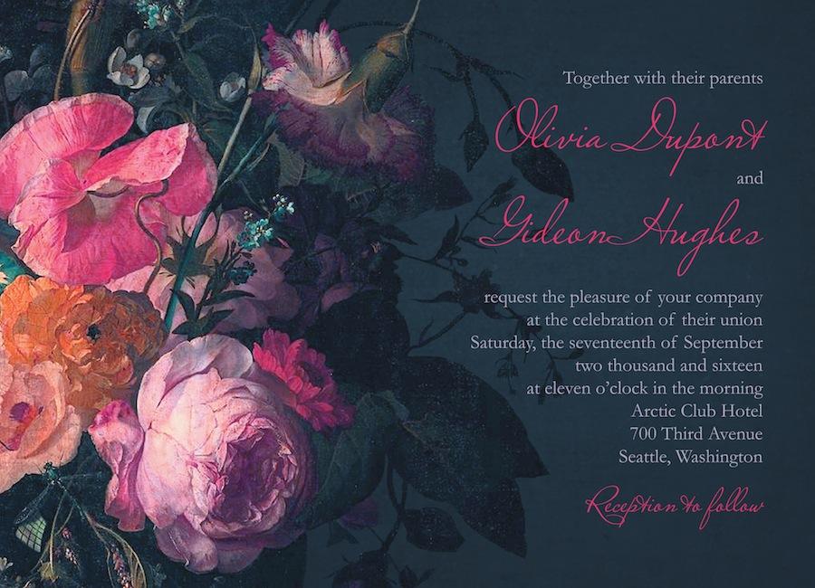 Midnight Bouquet by Claire Pettibone for Wedding Paper Divas.