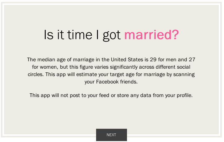 PW-FB marriage app