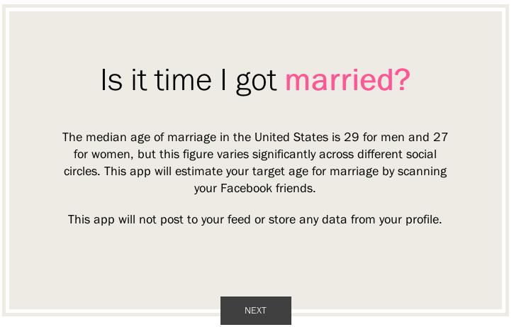 PW-FB marriage app