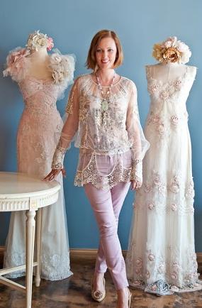 Bridal designer Claire Pettibone. Photos courtesy of the designer.