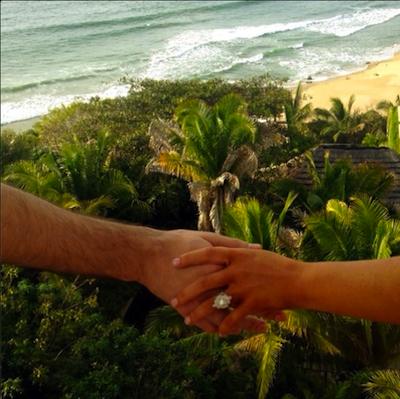 Xtina's ring! Photo via Instagram.