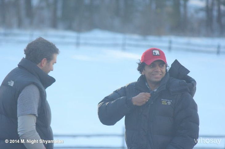 "Feb. 25: ""Out in the cold with our production designer."""