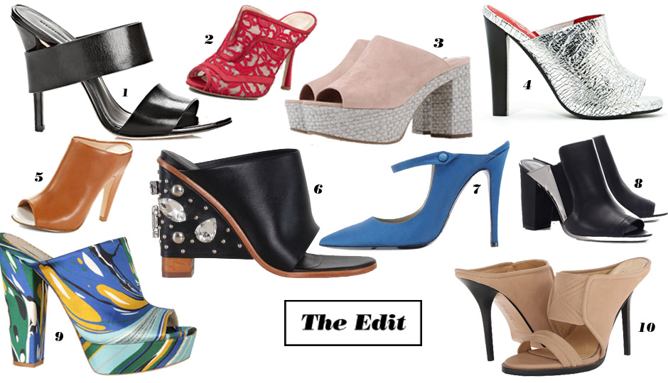 Why You'll Be Wearing Mule Shoes In Spring 2014